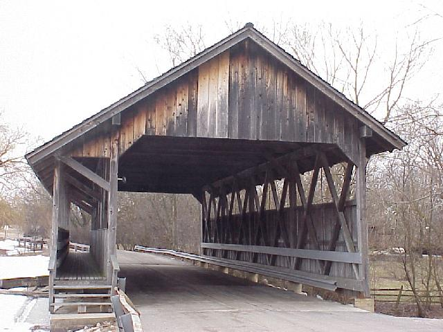 sunset ridge covered bridge